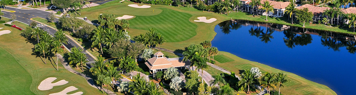 Improvement District aerial of golf course